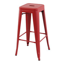 U-RO DECOR เก้าอี้บาร์สตูลเหล็ก รุ่น ZANIA-L (ซาเนีย-แอล) - สีแดง