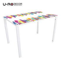 U-RO DECOR รุ่น KLASY-S Dining Table (SPOON design 110x70 cm.) - White leg