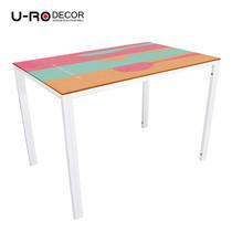 U-RO DECOR รุ่น KLASY-S Dining Table (RESTAURANT design 110x70 cm.) - White leg