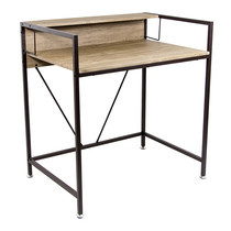 U-RO DECOR Working Desk รุ่น LINCOIN - Oak /Dark Brown