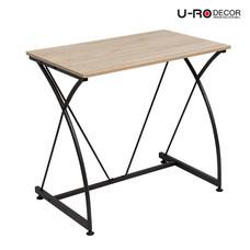 U-RO DECOR โต๊ะทำงาน / โต๊ะคอมพิวเตอร์ รุ่น BONUS - สีโอ๊ค/ขาสีน้ำตาลเข้ม