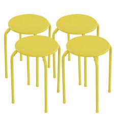 U-RO DECOR สตูลเหล็ก รุ่น LEMON (เลมอน) สีเหลือง (4 ชิ้น / ชุด)