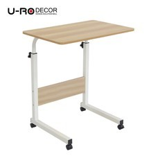 U-RO Decor รุ่น FOX (ฟอกซ์) โต๊ะคอมอเนกประสงค์ปรับระดับความสูง สีโอ๊ค