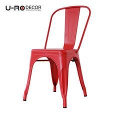 U-RO DECOR เก้าอี้เหล็ก รุ่น ZANIA-C (ซาเนีย-ซี) - สีแดง