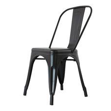 U-RO DECOR เก้าอี้เหล็ก รุ่น ZANIA-C (ซาเนีย-ซี) - สีดำ