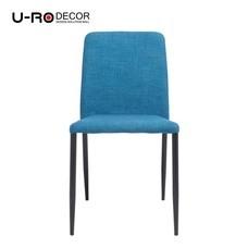 U-RO Decor รุ่น DONNA (ดอนน่า) เก้าอี้รับประทานอาหาร สีฟ้า/ขาสีดำ
