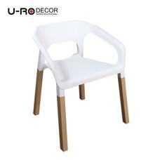 U-RO Decor รุ่น CONCORD (คองคอร์ด) เก้าอี้ดีไซน์ เก้าอี้พักผ่อน มีที่เท้าแขน เก้าอี้อเนกประสงค์ สีขาว