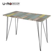 U-RO DECOR รุ่น PREMIUM WOOD Office /Computer Desk (110x60x75 cm.) - Black leg