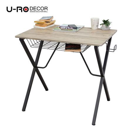 U-RO DECOR โต๊ะทำงานอเนกประสงค์/คอมพิวเตอร์ รุ่น LEXUS สีโอ๊ค/ขาสีน้ำตาล
