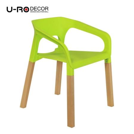 U-RO Decor รุ่น CONCORD (คองคอร์ด) เก้าอี้ดีไซน์ เก้าอี้พักผ่อน มีที่เท้าแขน เก้าอี้อเนกประสงค์ สีเขียว
