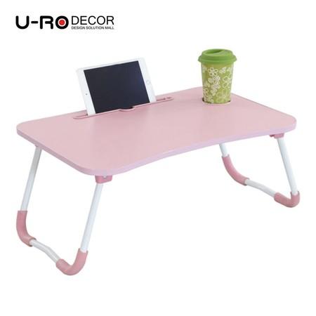 U-RO Decor รุ่น FANCY (แฟนซี) โต๊ะคอมอเนกประสงค์พับได้ สีชมพู