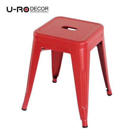 U-RO DECOR เก้าอี้สตูลเหล็ก รุ่น ZANIA-S (ซาเนีย-เอส) - สีแดง