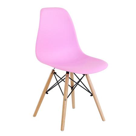 U-RO DECOR เก้าอี้รับประทานอาหาร รุ่น ACRON-K (แอครอน-เค) สีชมพู/ขาไม้บีช