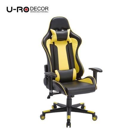 U-RO DECOR รุ่น RYDER Recliner Gaming /Office Chair - Black /Yellow