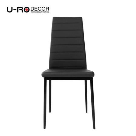 U-RO Decor รุ่น IDA (ไอด้า) เก้าอี้รับประทานอาหาร สีดำ
