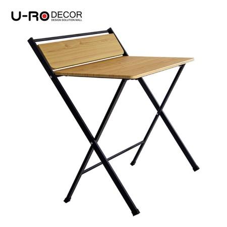 U-RO Decor รุ่น SYDNEY (ซิดนีย์) โต๊ะคอมอเนกประสงค์พับได้ สีโอ๊ค