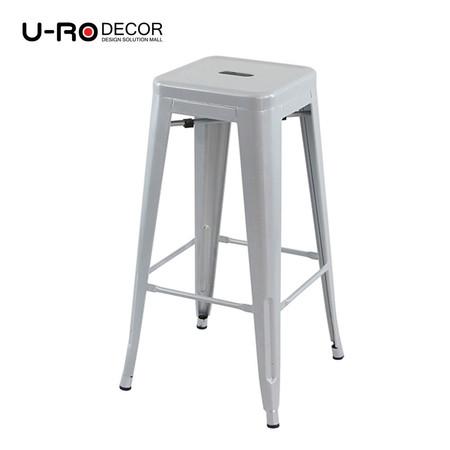 U-RO DECOR เก้าอี้บาร์สตูลเหล็ก รุ่น ZANIA-L (ซาเนีย-แอล) สีเทา