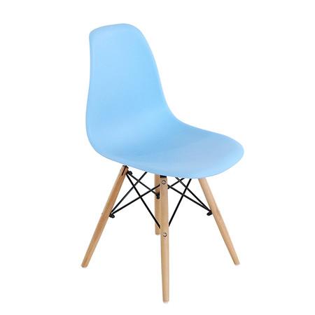 U-RO DECOR เก้าอี้รับประทานอาหาร รุ่น ACRON-K (แอครอน-เค) สีฟ้า/ขาไม้บีช