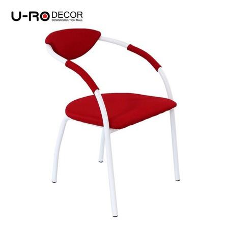 U-RO Decor รุ่น OSLO (ออสโล) เก้าอี้ดีไซน์ เก้าอี้รับประทานอาหาร สีแดง