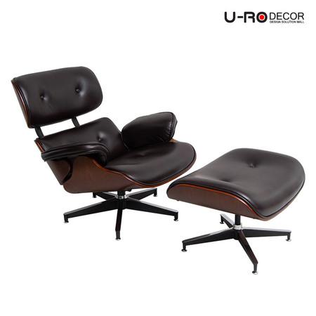 U-RO DECOR รุ่น BENELUX (เบเนลักซ์) สีน้ำตาล เก้าอี้ โซฟาพักผ่อนพร้อมสตูลวางเท้า เก้าอี้พักผ่อน เก้าอี้หนัง