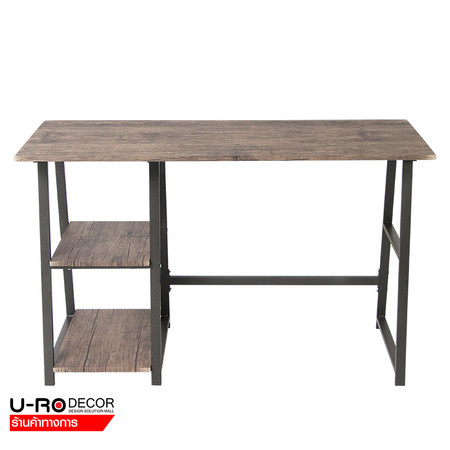U-RO DECOR โต๊ะทำงานอเนกประสงค์/โต๊ะคอมพิวเตอร์ (Working Desk/Computer Desk) รุ่น LASVEGAS (ลาสเวกัส) สีแอนทิคโอ๊ค/ขาสีน้ำตาลเข้ม