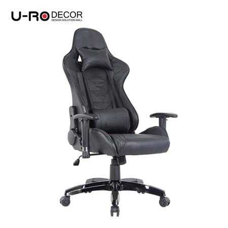 U-RO Decor รุ่น ROBOT (โรบ็อต) เก้าอี้เล่นเกม ปรับความสูงได้ เก้าอี้ปรับนอนได้ ปรับเอนได้ 180 องศา สีดำ