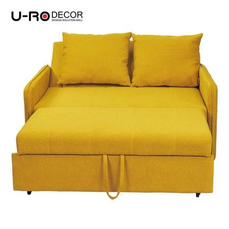 U-RO Decor รุ่น ZARA (ซาร่า) โซฟาเบด 2 ที่นั่ง SOFA BED 2 SEATS WITH 2 PILLOWS สีเหลือง