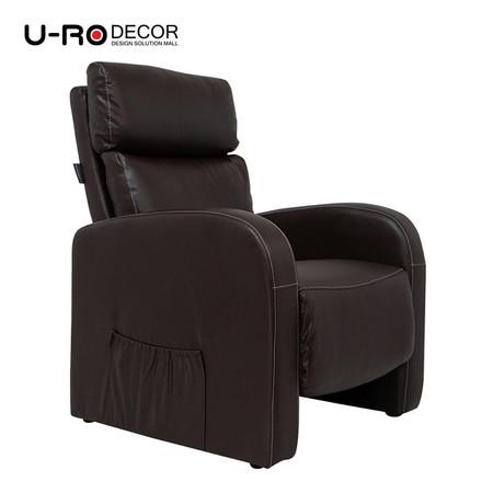 U-RO DÉCOR เก้าอี้โซฟาปรับนอนได้ รุ่น ENDGUY - สีน้ำตาล
