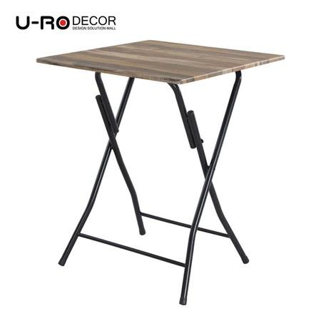 U-RO Decor รุ่น HAWAII-T (ฮาวาย-ที) โต๊ะพับอเนกประสงค์ สีวินเทจ/ขาสีดำ