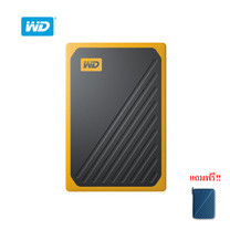 WD My Passport™ GO Portable SSD, 500GB, USB 3.0, speeds up to 400 MB/s, built-in cable, Amber colored
