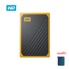 WD My Passport™ GO Portable SSD, 1TB, USB 3.0, speeds up to 400 MB/s, built-incable, Amber colored