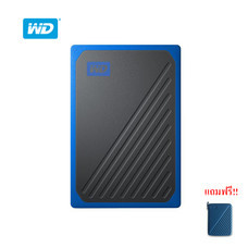 WD My Passport™ GO Portable SSD, 1TB, USB 3.0, speeds up to 400 MB/s, built-in cable, Cobalt colored