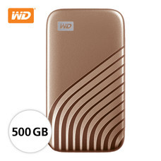 WD NEW MY PASSPORT  SSD  500 GB  (WDBAGF5000AGD-WESN)- GOLD