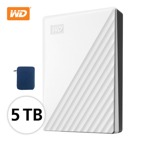 WD NEW MY PASSPORT 5 TB (WDBPKJ0050BฺWT -WESN) - WHITE