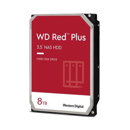 WD Internal Hard Drive NAS 8 TB RED PLUS ฮาร์ดดิสก์ NAS 8TB REDPluS7200 RPMHDD3.5