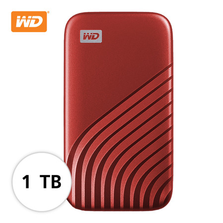 WD NEW MY PASSPORT SSD 1 TB (WDBAGF0010BRD-WESN ) – RED