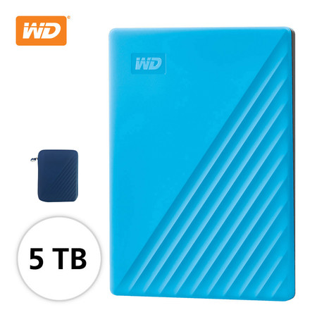 WD NEW MY PASSPORT 5 TB (WDBPKJ0050BBL-WESN) - BLUE