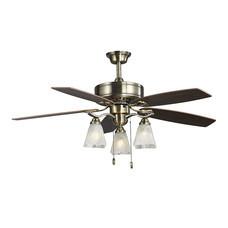 WIN FAVOUR พัดลมโคมไฟเพดาน รุ่น FD-SP012 AB - Antique Brass
