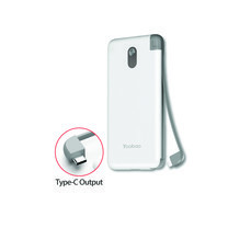 Yoobao Built-in Cable Power Bank S8K 8000mAh White – Type C