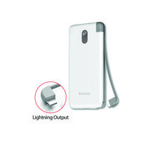 Yoobao Built-in Cable Power Bank S8K 8000mAh White – Lightning