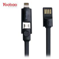 สายชาร์จ Yoobao lightning+Micro USB YB407 100 cm. - Black