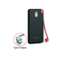 Yoobao Built-in Cable Power Bank S8K 8000mAh Black – Type C