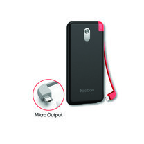 Yoobao Built-in Cable Power Bank S8K 8000mAh Black – Micro USB