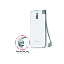 Yoobao Built-in Cable PowerBank S16K 16000mAh White – Micro USB
