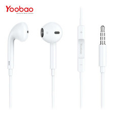 หูฟัง Yoobao Wire earphone YBL4 (3.5mm connector) - White