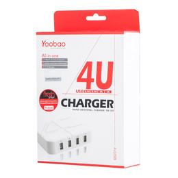 อะแดปเตอร์ Yoobao Rapid Universal Charger YB701 (4 x USB Ports)