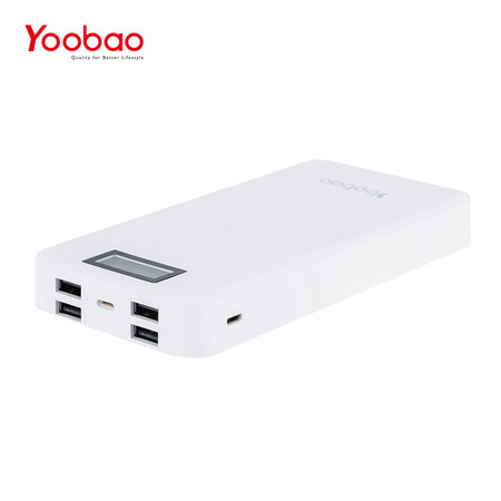 แบตเตอรี่สำรอง Yoobao Power Bank YB-M30 Plus 30000mAh - White