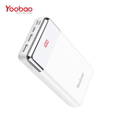 แบตเตอรี่สำรอง YOOBAO POWERBANK P2W PREMIUM EDITION 20000 MAH - White