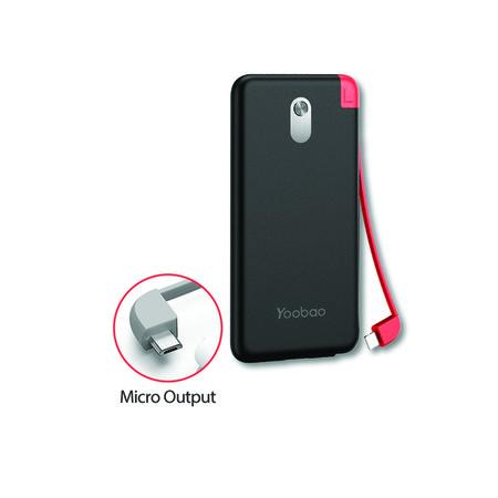Yoobao Built-in Cable Power Bank S8K 8000mAh Black – Micro USB