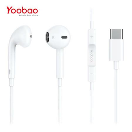 หูฟัง Yoobao Wire earphone YBL6 (Type-C connector) - White